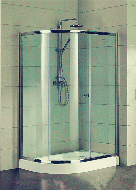 Compact D Shaped Quadrant Shower Enclosures 4 Ft Small Corner Shower Stalls